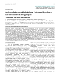 "Báo cáo y học: ""Qualitative Dosimetric and Radiobiological Evaluation of High – Dose – Rate Interstitial brachytherapy Implant"""