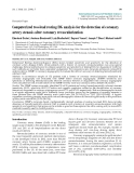 "Báo cáo y học: "" Computerized two-lead resting ECG analysis for the detection of coronary artery stenosis after coronary revascularization"""