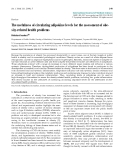 "Báo cáo y học: ""The usefulness of circulating adipokine levels for the assessment of obesity-related health problems"""