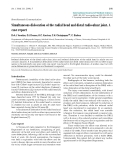 "Báo cáo y học: ""Simultaneous dislocation of the radial head and distal radio-ulnar joint. A case report"""