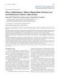"""Báo cáo y học: """"Efficacy of Radiofrequency Ablation of Hepatocellular Carcinoma Associated with Chronic Liver Disease without Cirrhosis"""""""