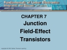 CHAPTER 7: Junction Field-Effect Transistors