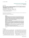 "Báo cáo y học: ""Endoscopic thoracic laminoforaminoplasty for the treatment of thoracic radiculopathy: report of 12 case"""