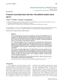 "Báo cáo y học: ""Treatment of proximal femur infections with antibiotic-loaded cement spacers"""
