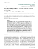 "Báo cáo y học: ""Primary lower limb lymphedema: a focus on its functional, social and emotional impac"""