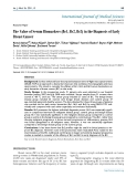 "Báo cáo y học: "" the Value of Serum Biomarkers (Bc1, Bc2, Bc3) in the Diagnosis of Early Breast Cancer"""