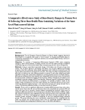 """Báo cáo y học: """"A Comparative Effectiveness Study of Bone Density Changes in Women Over 40 Following Three Bone Health Plans Containing Variations of the Same Novel Plant-sourced Calcium"""""""