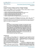 "Báo cáo y học: ""Surgical Treatment of Depressed Scar: A Simple Technique"""