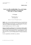 """Báo cáo khoa học: """" Carry-over effect of gibberellins (GA and ringing ) 4/7 on female flowering in Norway spruce (Picea abies (L) Karst) seedlings"""""""