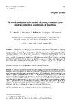 """Báo cáo lâm nghiệp: """" Growth and mineral content of young chestnut trees under controlled conditions of nutrition"""""""