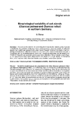 "Báo cáo khoa học: ""Morphological variability of oak stands (Quercus petraea and Quercus robur) in northern Germany"""