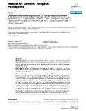 "Báo cáo y học: ""Unipolar late-onset depression: A comprehensive review"""