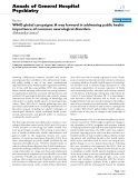 "Báo cáo y học: ""WHO global campaigns: A way forward in addressing public health importance of common neurological disorders"""