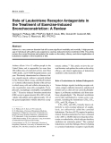"Báo cáo y học: ""Role of Leukotriene Receptor Antagonists in the Treatment of Exercise-Induced Bronchoconstriction: A Review"""