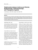 "Báo cáo y học: ""Relationship between Asthma and Rhinitis: Epidemiologic, Pathophysiologic, and Therapeutic Aspects"""