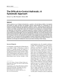 "Báo cáo y học: ""The Difficult-to-Control Asthmatic: A Systematic Approach"""