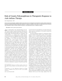 "Báo cáo y học: ""Role of Genetic Polymorphisms in Therapeutic Response to Anti-Asthma Therapy"""