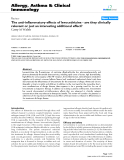 "Báo cáo y học: ""The anti-inflammatory effects of levocetirizine - are they clinically relevant or just an interesting additional effect"""