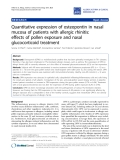 "Báo cáo y học: ""Quantitative expression of osteopontin in nasal mucosa of patients with allergic rhinitis: effects of pollen exposure and nasal glucocorticoid treatment"""