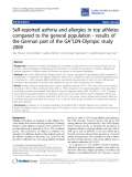 "Báo cáo y học: ""Self-reported asthma and allergies in top athletes compared to the general population - results of the German part of the GA2LEN-Olympic study 2008"""