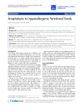 """Báo cáo y học: """"Anaphylaxis to hyperallergenic functional foods"""""""