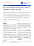 """Báo cáo y học: """"The concept of """"compartment allergy"""": prilocaine injected into different skin layers"""""""