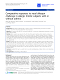 "Báo cáo y học: ""Comparative responses to nasal allergen challenge in allergic rhinitic subjects with or without asthma"""