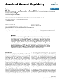 "Báo cáo y học: ""Phobic memory and somatic vulnerabilities in anorexia nervosa: a necessary unity"""
