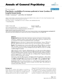 """Báo cáo y học: """"morbidity of overseas patients in inner London: A hospital based study"""""""