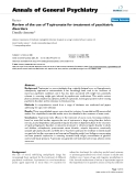 "Báo cáo y học: "" Review of the use of Topiramate for treatment of psychiatric disorders"""