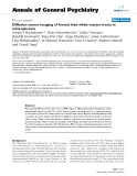 """Báo cáo y học: """"Diffusion tensor imaging of frontal lobe white matter tracts in schizophrenia"""""""