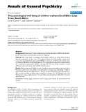 """Báo cáo y học: """"The psychological well-being of children orphaned by AIDS in Cape Town, South Africa"""""""