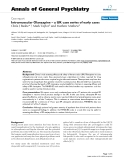 """Báo cáo y học: """"Intramuscular Olanzapine – a UK case series of early cases"""""""