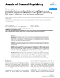 "Báo cáo y học: ""Association between antipsychotics and weight gain among psychiatric outpatients in Pakistan: a retrospective cohort study"""