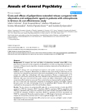 "Báo cáo y học: ""Costs and effects of paliperidone extended release compared with alternative oral antipsychotic agents in patients with schizophrenia in Greece: A cost effectiveness study"""