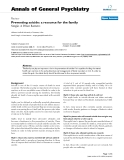 """Báo cáo khoa học: """"Preventing suicide: a resource for the family"""""""
