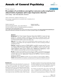 """Báo cáo y học: """"An analysis of correlations among four outcome scales employed in clinical trials of patients with major depressive disorder"""""""