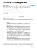 "Báo cáo y học: ""The relationship between antipsychotic medication adherence and patient outcomes among individuals diagnosed with bipolar disorder: a retrospective study"""