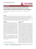 "Báo cáo y học: ""Coincidence of paroxysmal supraventricular tachycardia and panic disorder: two case reports"""