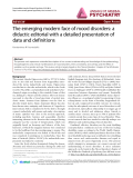 """Báo cáo y học: """"The emerging modern face of mood disorders: a didactic editorial with a detailed presentation of data and definitions"""""""