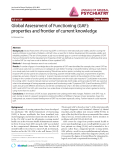 """Báo cáo y học: """"Global Assessment of Functioning (GAF): properties and frontier of current knowledge"""""""