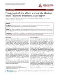 """Báo cáo y học: """"Extrapyramidal side effects and suicidal ideation under fluoxetine treatment: a case repot"""""""