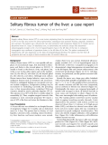 """báo cáo khoa học: """"Solitary fibrous tumor of the liver: a case report"""""""