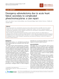 "báo cáo khoa học: ""Emergency adrenalectomy due to acute heart failure secondary to complicated pheochromocytoma: a case report"""