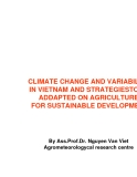 CLIMATE CHANGE AND VARIABILITY IN VIETNAM AND STRATEGIESTO BE ADDAPTED ON AGRICULTURE FOR SUSTAINABLE DEVELOPMENT