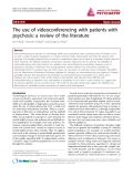 "Báo cáo y học: "" The use of videoconferencing with patients with psychosis: a review of the literature"""