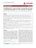 "Báo cáo y học: ""Complement C3 serum levels in anorexia nervosa: a potential biomarker for the severity of disease"""