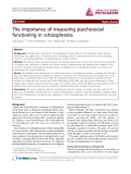 """Báo cáo y học: """"The importance of measuring psychosocial functioning in schizophrenia"""""""