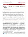 "Báo cáo y học: ""Cognitive function among hemodialysis patients in Japan"""