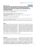 "Báo cáo y học: ""Electrophoretic characterization of species of fibronectin bearing sequences from the N-terminal heparin-binding domain in synovial fluid samples from patients with osteoarthritis and rheumatoid arthritis"""